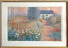 Baudaux Monique (Belgian 1931-2009) European Impressionist painting lithograph