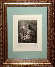Millet Jean Franois (French 1814-1875)  La VeillŽe