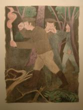 Soyer Rafael  (Russian-born American 1899 -1987)  One of 12 Lithographs of series : Gentlemen From Cracow