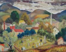 Kovaleski Mitchell (American 1910-1998)  oil on canvas