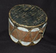 Antique Native American Log Drum, c.early 1900s