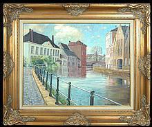 Baudaux Monique (Belgian 1931-2009) The Canal