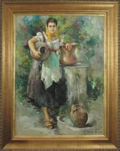 Woman carrying Jugs