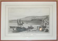 Daniell William (British 1769?1837)  Lyme Regis, from Charmouth, Dorset   Aquatint on paper 75/90
