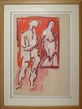Burkhardt Hans Gustav (Swiss 1904-1994) : The Bridal Shower