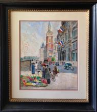 Fioravanti Vincenzo (italian/American 20th): 20th Century Paris Street I