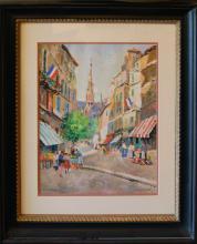 Fioravanti Vincenzo (italian/American 20th): 20th Century Paris Street II