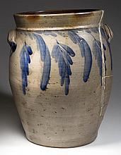 SOLOMON BELL (ATTRIBUTED), STRASBURG, SHENANDOAH VALLEY OF VIRGINIA DECORATED STONEWARE JAR