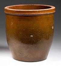 NEW MARKET, SHENANDOAH VALLEY OF VIRGINIA EARTHENWARE / REDWARE CROCK