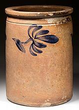 SHENANDOAH VALLEY OF VIRGINIA DECORATED STONEWARE JAR