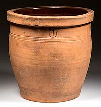 EMANUEL SUTER, ROCKINGHAM CO., SHENANDOAH VALLEY OF VIRGINIA EARTHENWARE / REDWARE CROCK