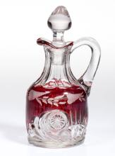 RIVERSIDE'S ESTHER - RUBY-STAINED CRUET