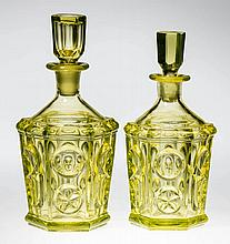 PRESSED STAR AND PUNTY COLOGNE BOTTLES, LOT OF TWO
