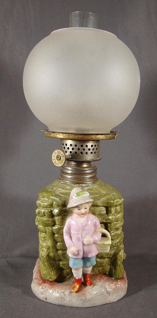 PORCELAIN FIGURAL MINIATURE LAMP