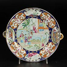 CHINESE EXPORT PORCELAIN WARMING DISH
