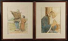 WILLY SEILER (GERMAN, B. 1903) ETCHINGS, LOT OF TWO