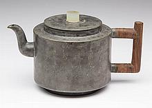CHINESE YIXING PEWTER TEAPOT AND COVER