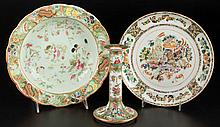 CHINESE EXPORT PORCELAIN ASSORTED TABLE ARTICLES, LOT OF THREE