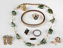 ASSORTED VINTAGE JEWELRY AND RELATED ITEMS, LOT OF NINE