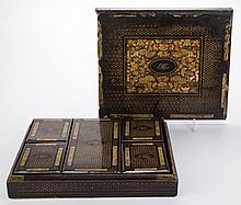 CHINESE EXPORT LACQUERED GAMES CASE