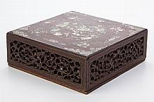CHINESE CARVED ROSEWOOD BOX