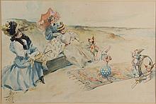CHARLES HOWARD JOHNSON (AMERICAN, 1868-1896) ORIGINAL ILLUSTRATION
