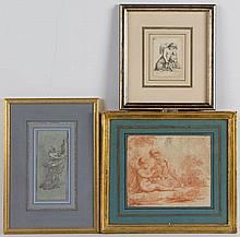 ASSORTED OLD MASTER-STYLE DRAWINGS, LOT OF THREE