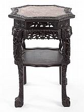 ASIAN CARVED ROSEWOOD FERN STAND