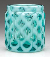 RIBBED OPAL LATTICE TOOTHPICK HOLDER