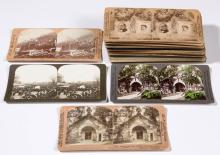 ASSORTED POLITICAL / HISTORICAL STEREOVIEW CARDS, LOT OF 39