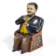 TAMMANY FIGURAL CAST-IRON MECHANICAL BANK