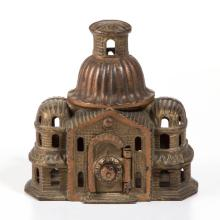 DOMED MOSQUE CAST-IRON PENNY BANK