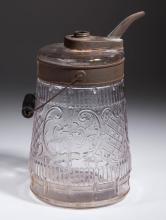 EMBOSSED GLASS KEROSENE CAN / DISPENSER