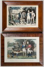 AMERICAN HISTORICAL MILITARY PRINTS, LOT OF TWO