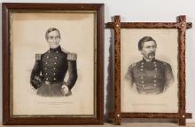 AMERICAN CIVIL WAR HISTORICAL PORTRAIT PRINTS, LOT OF TWO