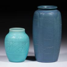 AMERICAN ART POTTERY VASES, LOT OF TWO