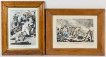 AMERICAN HISTORICAL REVOLUTIONARY WAR PRINTS, LOT OF TWO