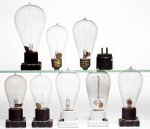 ASSORTED MANUFACTURERS LIGHT / LAMP BULBS, LOT OF EIGHT