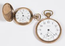 ASSORTED AMERICAN 15-JEWEL POCKET WATCHES, LOT OF TWO