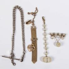 ASSORTED WATCH FOBS / CHAINS, LOT OF THREE