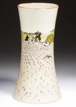 ENGLISH HAND-PAINTED CERAMIC VASE