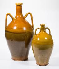 CONTINENTAL CERAMIC BOTTLES, LOT OF TWO
