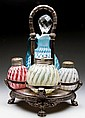 REVERSE SWIRL FOUR-PIECE CONDIMENT SET