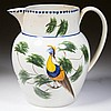 ENGLISH STAFFORDSHIRE POTTERY PEARLWARE PEAFOWL JUG