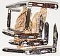 CASE XX JIGGED BONE HANDLE POCKET KNIVES, LOT OF FIVE
