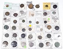 ASSORTED ANCIENT COINS, LOT OF 42