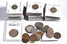 MIXED LOT OF UNITED STATES SILVER AND OTHER COINS, LOT OF 66