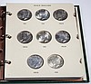 UNITED STATES SILVER PEACE DOLLAR COINS, COMPLETE SET OF 24