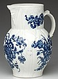 CAUGHLEY PORCELAIN CABBAGE LEAF-MOLDED MASK JUG