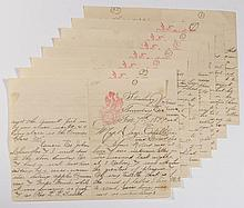 MANUSCRIPT LETTER WRITTEN BY STRASBURG, SHENANDOAH VALLEY OF VIRGINIA POTTER DANIEL LETCHER EBERLY (1859-1919)